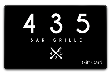 435 Bar and Grille Physical Gift Card